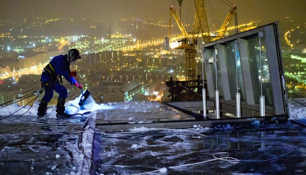 Промышленный альпинизм при строительстве